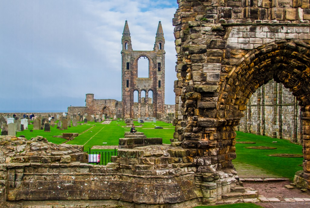 St. Andrews Cathedral lies in ruins